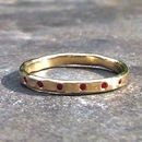 Hexa Ring 9ct Yellow Eco Gold Ruby