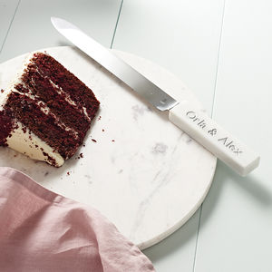 Cake Knife Personalised Marble Handle - home wedding gifts
