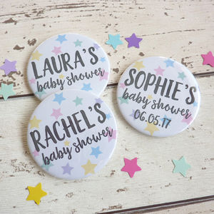 Little Star Baby Shower Badges