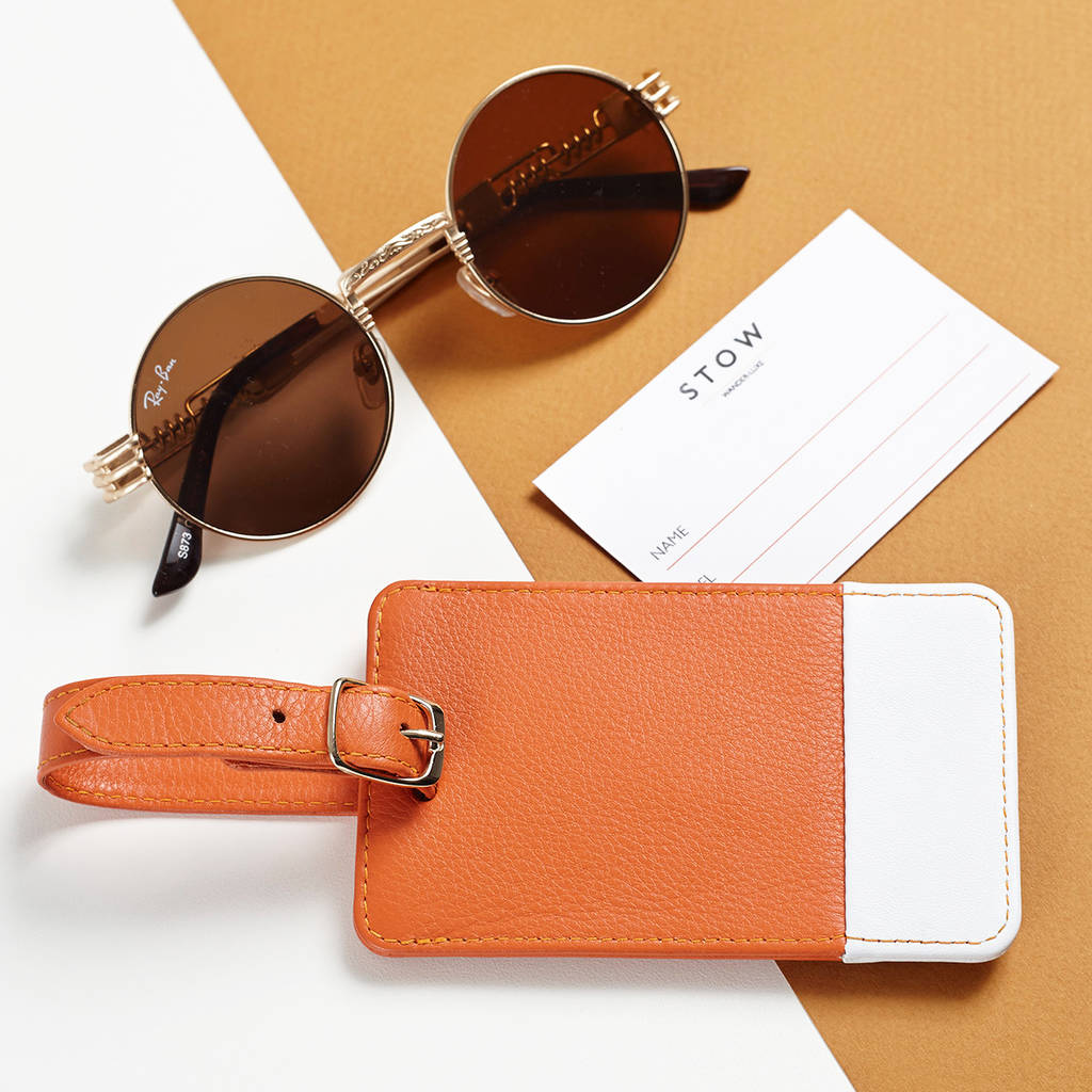 Personalised Soft Luxury Leather Luggage Tag