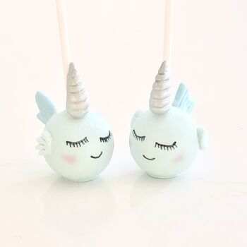 Sleeping Narwhal Cake Pops