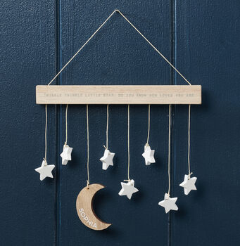 Personalised Twinkle Twinkle Little Star Wall Hanging