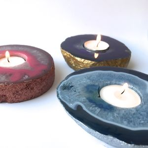 Agate Tealight Candle Holder