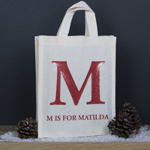 Personalised Children's Tote Bag, Initial Design - children's accessories
