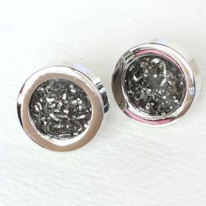 Steel And Meteorite Cufflinks - cufflinks