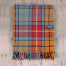 Recycled Wool Blanket In Antique Buchanan Tartan