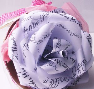 No.One Teacher Personalised Paper Rose - new in home