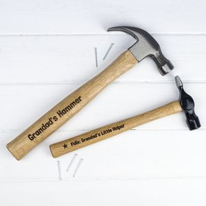 Personalised Big Hammer And Little Hammer Set - gifts for fathers