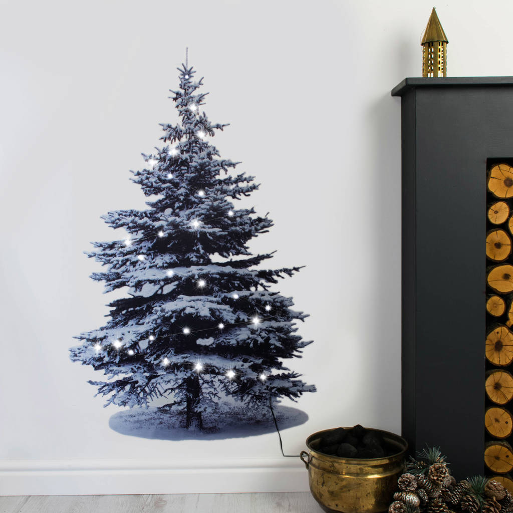 Christmas Tree Wall Sticker With Lights By Nutmeg Wall ...