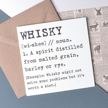 Scottish 'Whisky' Funny Card