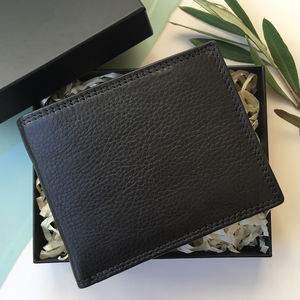 Black Soft Leather Wallet With Rfid In Gift Box