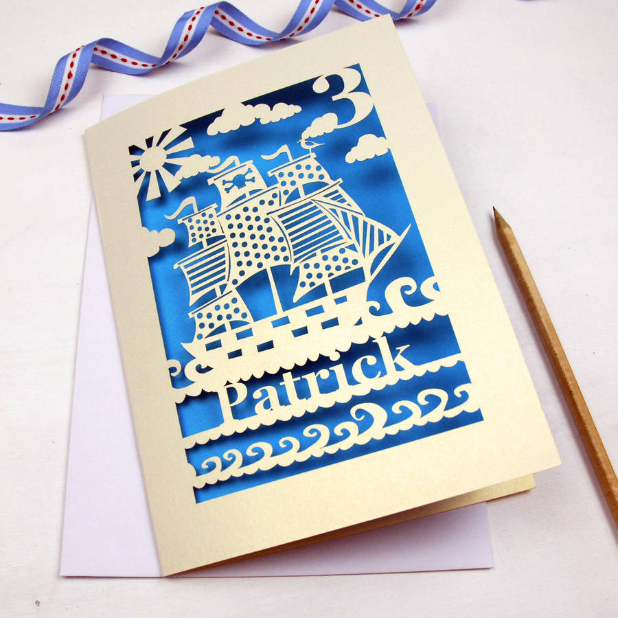 personalised papercut pirate birthday card by pogofandango – Pirate Birthday Card