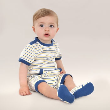 Baby Boy French Designer Cotton Romper