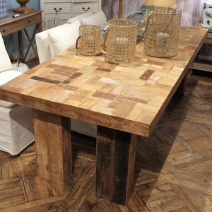 Large Reclaimed Teak Dining Table - furniture