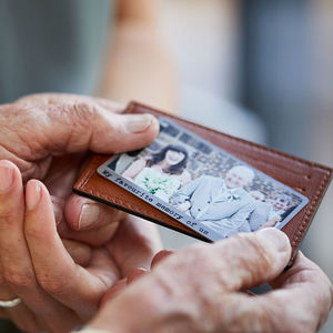 Personalised Solid Copper Wallet Photo Card - gifts for fathers
