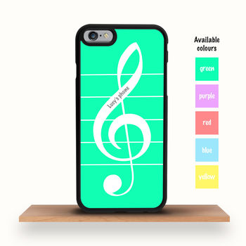 Musical Treble Clef Personalised iPhone Case