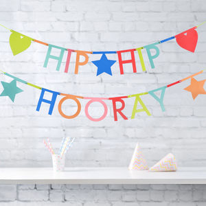 Multi Colour Letter Garland Kit - decorative accessories