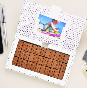 Chocolate Thank You Card - retirement gifts