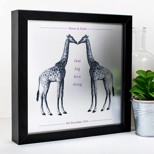 Love Gift; 'That Big Love Thing' Kissing Giraffes Print - 100 best wedding prints