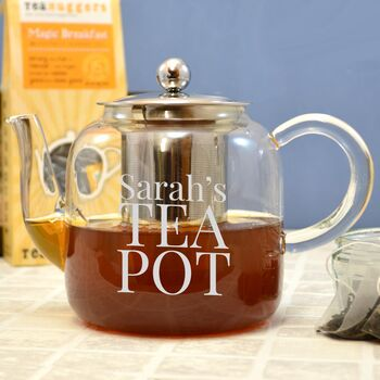 Personalised Glass Teapot