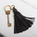 Leather Tassel Key Ring
