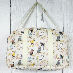 Hummingbird Print Canvas Bag