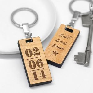 Personalised Best Dad Ever Keyring - gifts for fathers