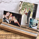Personalised Wooden Photo Frame Block