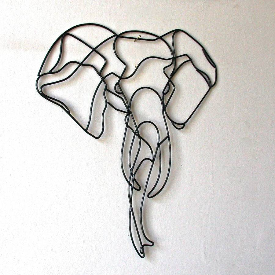 Elephant Wire Wall Art