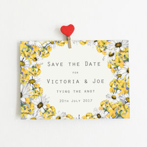 Floral Save The Date Postcards Pack Of 20 - wedding stationery