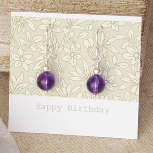 Handmade Sterling Silver Amethyst Drop Earrings