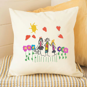 Personalised Cushion With Child's Drawing