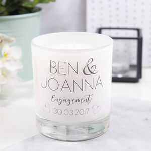 Personalised Engagement Luxury Scented Candle - candles & home fragrance
