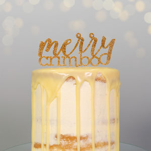 Merry Crimbo Christmas Cake Decoration