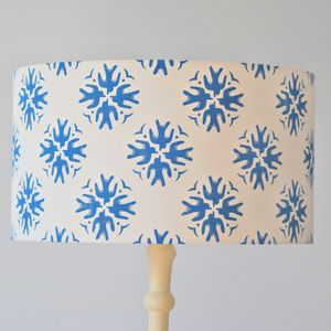 Swallows Lampshade Block Printed By Hand - lampshades