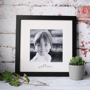 Personalised Handwritten Black And White Mums Frame - picture frames