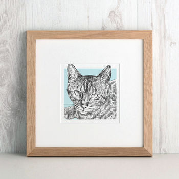 Bespoke Cat Portrait from Letterfest