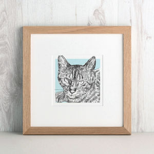 Bespoke Cat Portrait - pet-lover