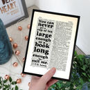 'Tea And Books' Quote Book Page Print