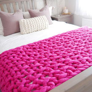 Dartington Chunky Hand Knitted Throw
