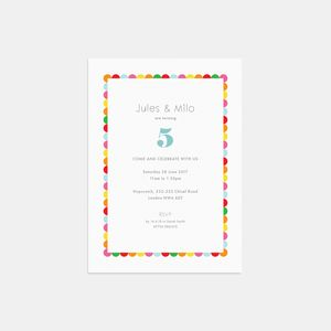 Happy Day Personalised Birthday Party Invitations - invitations
