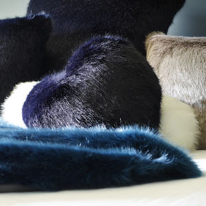 Luxury Faux Fur Heart Cushions - cushions