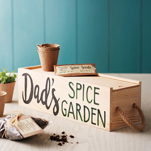 Personalised Window Box With Spice Selection Seeds - gardener