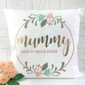 Personalised Floral Wreath Cushion Cover - cushions