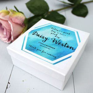 Personalised Wedding Favour Box Or Place Card