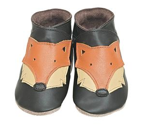 Boys And Girls Soft Leather Baby Shoes Foxy Chocolate