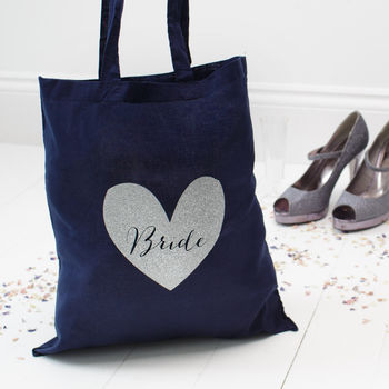Hen Party Bride Bridesmaid Glitter Tote Bag