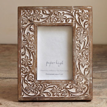 Iksu Handcrafted Wooden Photo Frame