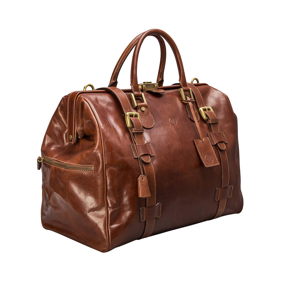 aee6902aed22 Personalised Leather Gladstone Bag. 'The Gassano'