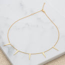 Gold Spiked Slider Clasp Choker